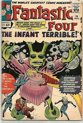 FANTASTIC FOUR # 24    Awesome Early Silver Age Book!    ~WOW!~
