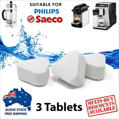 3 x Descaling Tablets for Coffee Espresso Machines Limescale Remover Descaler