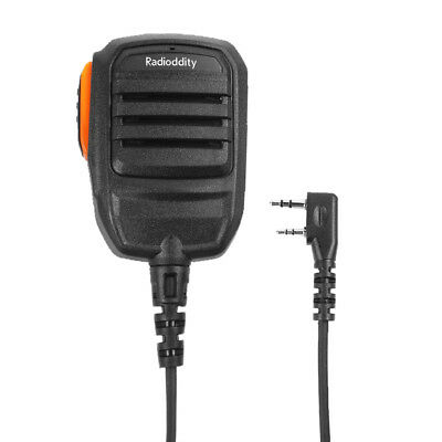 RS22 2 Pin Shoulder Speaker Mic for Radioddity Baofeng TYT WouXun Walkie Talkie