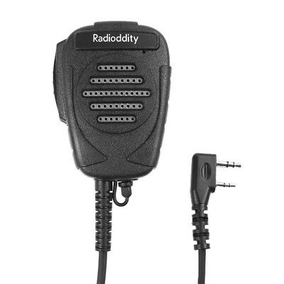 RS23 2-Pin Shoulder Speaker Mic for Radioddity Baofeng TYT Kenwood Walkie Talkie