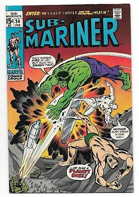 Sub-Mariner #34 VF+ High Grade Key Issue 1st App. Defenders Marvel Bronze Age