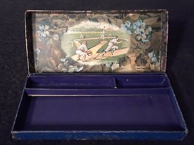 Early 1900's Antique Baseball Pencil Box Eagle Pencil Co. New York Vintage
