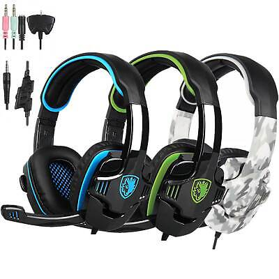 Sades SA-708GT Gaming Headset Headphone 3.5mm HiFi Stereo w/ MIC PS4 Xbox360 PC