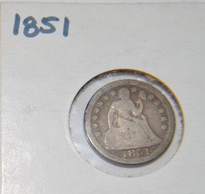 1851 Seated Liberty Dime
