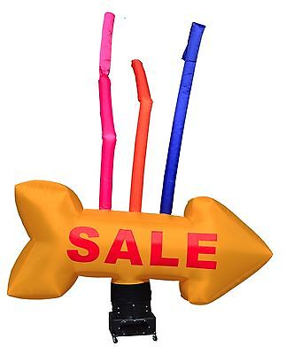 "Inflatable Sky Dancer Giant Arrow ""SALE"" Air Dancer Attachment; Yellow"
