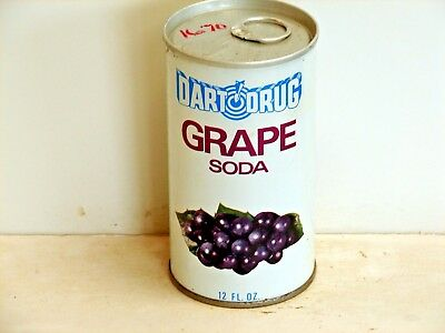 Dart Drug Grape Soda; Dart Drug Corporation; Landover, MD; steel soda pop can