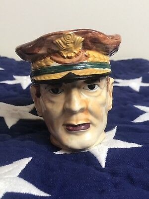 Vintage Mid-Century General MacArthur Mug Made in Occupied JAPAN~~Hand Painted