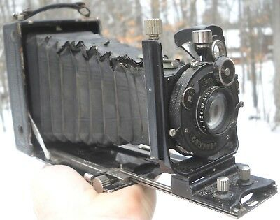 Antique Vintage ZEISS Ikon ~ Ideal COMPUR ~ Folding BELLOWS CAMERA ~ a/i