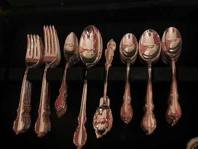 Reflection 1847 Rogers Bros Silverplate Flatware set for 8+ fruit soup xtra tspn