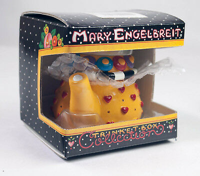 Mary Engelbreit Ink Teapot Trinket Box Collection Yellow Heart ME New in Box