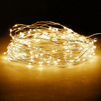 2-10 M Battery Powered Copper Wire String Fairy Xmas Party Lights Warm White A+