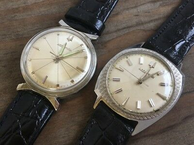 2 Pair Of Vintage Bulova Accutron  214 Stainless Steel Not Working For Partys