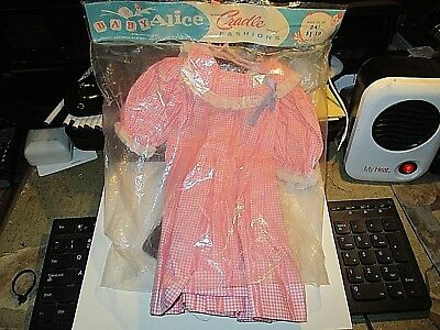 """Baby Alice Peggy Ann Doll Cloths Cradle Fashions Fits 24"""" Tall Springfield Mass"""