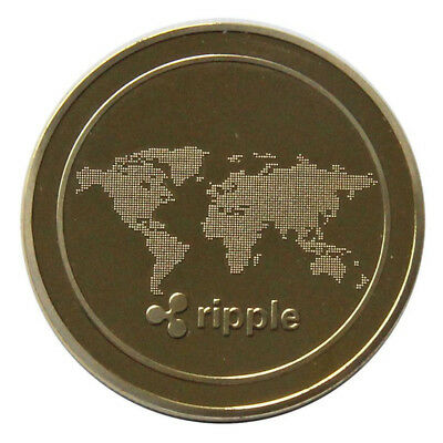 Ripple Ripple Coins Portable Bronze 4*4*0.25cm Commemorative Non-Currency Coins