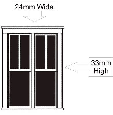 HO Scale Double Double-Hung Window x 2 - DP-61