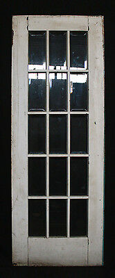 "30""x82 Antique Vintage Arts Crafts Exterior Entry French Door Beveled Glass Lite"
