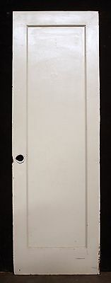 "26""x79"" Antique Vintage Interior Solid Wood Wooden Closet Pantry Door Flat Panel"