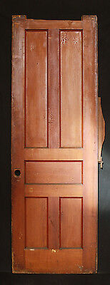 "28""x84 Antique Vintage Interior Pocket Sliding Wood Wooden Door 5 Recessed Panel"