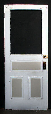 "32""x79"" Antique Vintage Solid Wood Wooden Exterior Back Entry Door Window Panel"