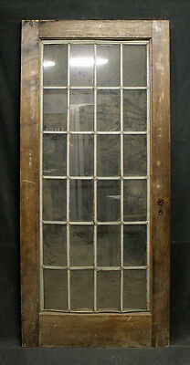 "36""x79"" Antique Vintage Wooden Wood Entry Exterior Door Leaded Glass Window Lite"