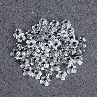 50pcs Heavy Duty T-Nuts Stainless Steel Pronged Tee Nuts for Wood Furniture