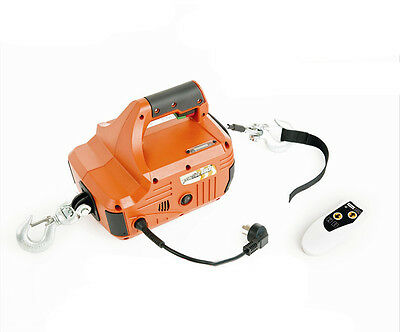 250KG*8M Portable Electric Winch Traction Hoist with Wireless Remote Control