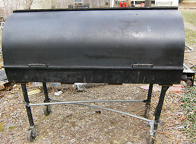 5 Ft. Large Heavy Duty Propane Barrel Grill BBQ Outdoor Cooker on Wheels - nice!