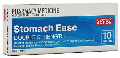 Stomach Ease Forte 10 Tablets Hyoscine Butylbromide 20mg Generic Buscopan Forte