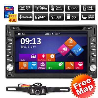 "GPS 6.2"" WinCE 6.0 2 DIN Car Radio Stereo DVD Player Bluetooth iPod MP3 with Map"