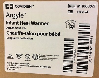 LOT of 25 Covidien Argyle INFANT HEEL WARMER With Attachment Tab MH000002T