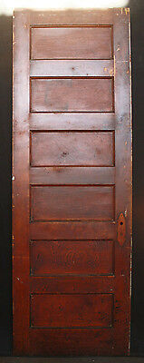 "30""x88 Antique Vintage Interior Solid Wood Wooden Door Horizontal Recessed Panel"