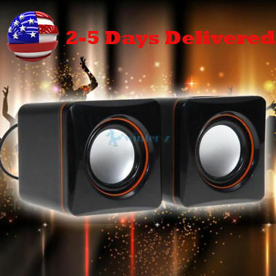 USB 3.5mm Stereo Mini Speaker Subwoofer for Desktop Laptop Notebook Tablet  O7
