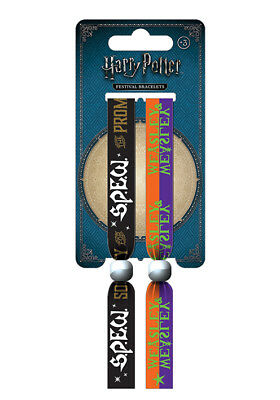 2 Harry Potter SPEW Festival Woven Fabric Wristbands Bracelets Official