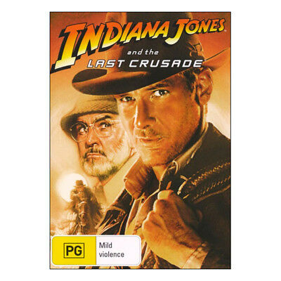 Indiana Jones and the Last Crusade  DVD  Brand New Aus Region 4 - Harrison Ford