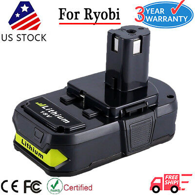 18V Battery For Ryobi ONE+ Plus P102 18 Volt 2500mAh Lithium-Ion Compact Battery