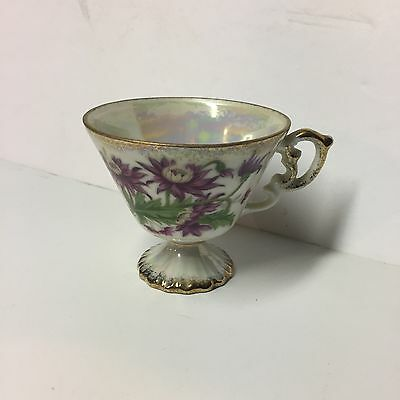 Vintage Enesco Floral September Aster Tea Cup Japan China