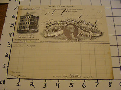 Original Vintage Letterhead: 1895 George Washington BAKING POWDER