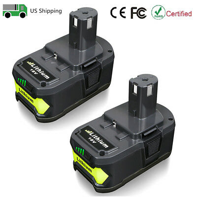 2X For Ryobi P108 18 Volt 18V One+ Plus Lithium Ion High Capacity Battery 4.0Ah