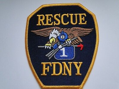 New Yorker  Firefighter Patch   FDNY  Rescue 1 ca 10 cm