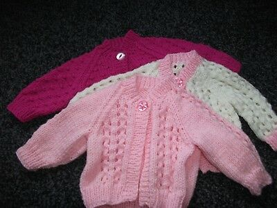 Hand Knitted Cardigans for Newborn Baby Girl