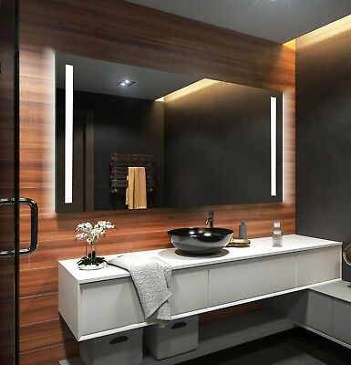 LED Illuminated Bathroom Mirror | Sensor Touch Switch | Demister | 4 Models