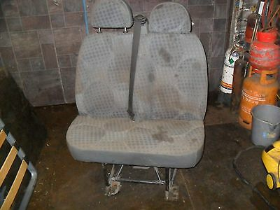 Double passenger/back/rear seat for MK7 Ford Transit with seatbelt