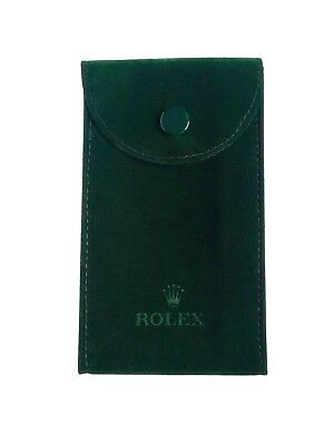 Genuine Rolex Green Service Travel Watch Pouch Case