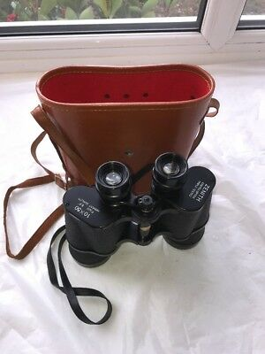RARE HANS WEISS 10x50 ZENITH 5.5 Degree Field Binoculars With Hard Case