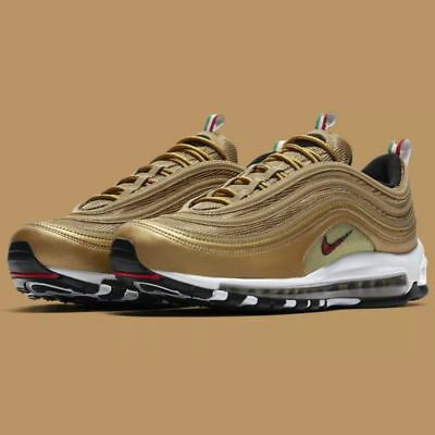 4200662690 NIKE AIR MAX 97 Italy Gold Flag AJ8056-700 OG QS CR7 New - £144.99 ...