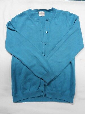 Crewcuts Casey Cardigan  - Girls Sweater - 12 - Turquoise - EUC
