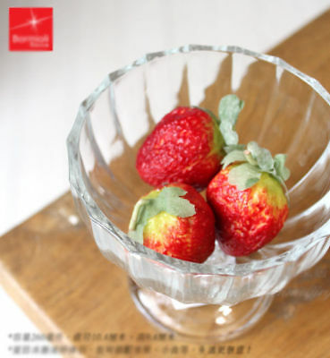E3 Clear Glass Sherbet Bowls Cup Fruit Ice Cream  Stained Glass Cup 260ML