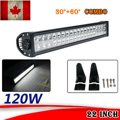 22inch 120W Phare de Travail Carre LED work Light Bar 4D Buggy offroad 4x4 truck