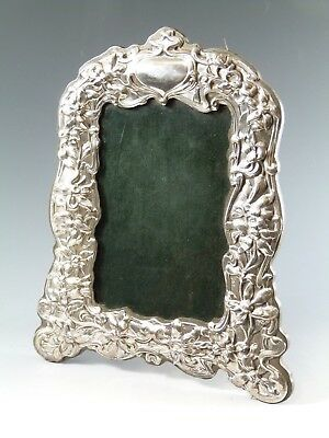 "Vintage Sterling Silver - Pressed Flowers Photo / Picture FRAME - 6"" x 4""- SF130"