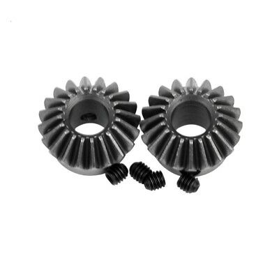 Drive Commutation Steel Gears Screw Hole 20 Teeth 2PCs Inner Hole 8mm 90 Degree